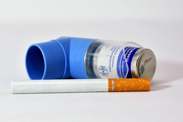 Inhalator und Zigarette