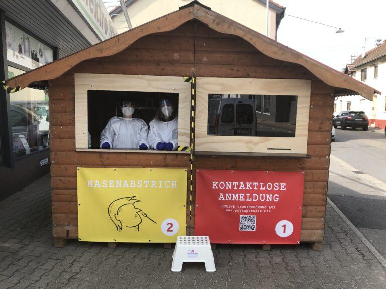 Corona-Schnellteststation Edingen-Neckarhausen